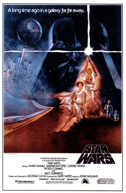 Locandina cinematografica di star wars - una nuova speranza (nella